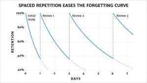 Spaced Repetition Forgetting Curve