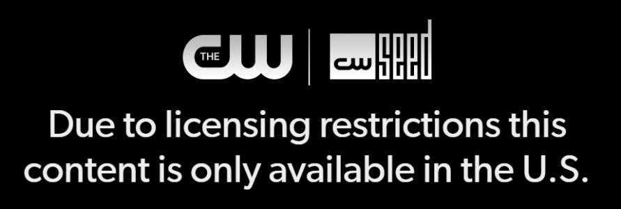 The CW - Content not available message